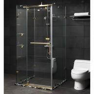 Vách kính tắm mạ vàng Fendi FDU-1X4 (1000x900x2000)